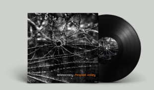 record sleeve design shrapnel valley teknocracy