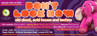 acid house techno club flyer design