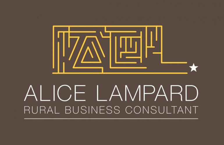 logo design, business card, Alice Lampard